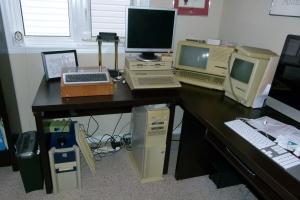 A crowded desk